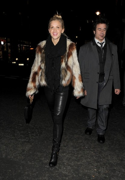 Ashley Roberts Fur Coat