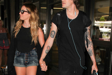 Ashley Tisdale Christopher French Ashley Tisdale and Christopher French Are Seen at LAX