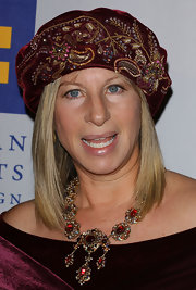 Barbra Streisand turned heads with her stunning chandelier necklace as she was honored with the Humanitarian Award.