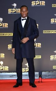 Didier Drogba looked debonair in his navy tuxedo at the BBC Sports Personality of the Year Awards.