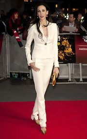 This white pantsuit was streamlined and chic on L'Wren Scott.