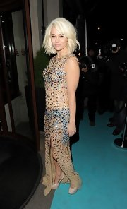 Kimberly Wyatt sparkled in a bedazzled evening gown while in London.