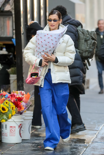 More Pics of Bella Hadid Leather Sneakers (2 of 5) - Athletic Shoes Lookbook - StyleBistro []