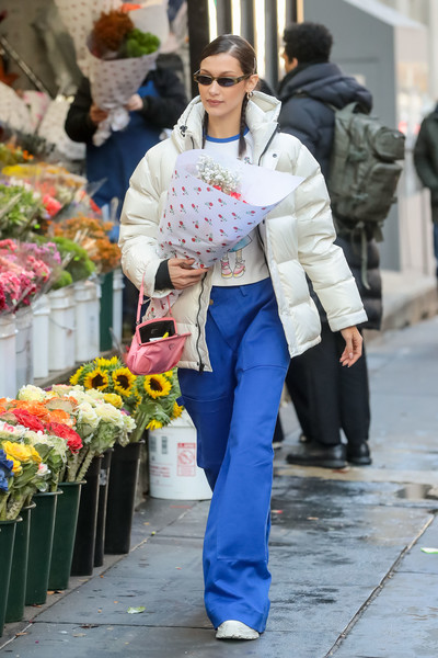 More Pics of Bella Hadid Leather Sneakers (1 of 5) - Athletic Shoes Lookbook - StyleBistro []