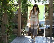 Jessica Biel looked so summery sweet in her airy striped day dress!