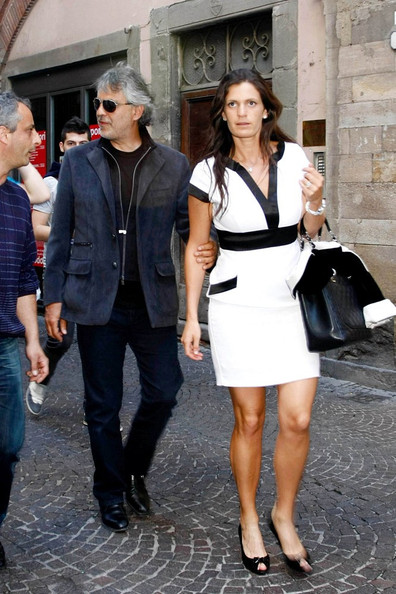 Veronica was a picture of effortless chic in a black-and=white mini dress.