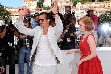"Brad Pitt Jessica Chastain ""The Tree of Life"" Photocall"