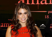 At the 'Breaking Dawn' premiere, Nikki Reed looked vibrant with her bright dress and super shiny tresses.