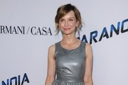 Calista Flockhart Leather Dress