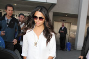 Camila Alves Button Down Shirt