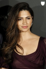 Camila Alves looked gorgeous with her side-swept 'do at the Dom Perignon party.
