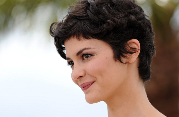 More Pics of Audrey Tautou Messy Cut (1 of 17) - Short Hairstyles Lookbook - StyleBistro