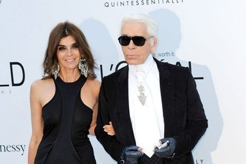 Carine Roitfeld Karl Lagerfeld The Cinema Against AIDS amfAR Gala