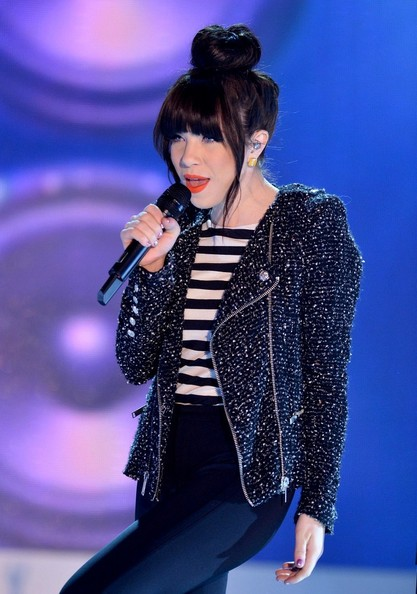 More Pics of Carly Rae Jepsen Motorcycle Jacket (5 of 30) - Carly Rae Jepsen Lookbook - StyleBistro