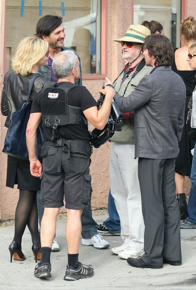 Christian Bale and Cate Blanchett on Set