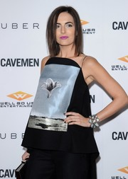 Camilla Belle finished off her look with black nail polish.