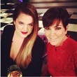 Khloe and Her Mom Work Red