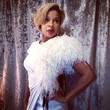 Mary J. Blige Flaunts Her Feathers