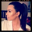 Kim Kardashian Shows Off Her Cheek Bones