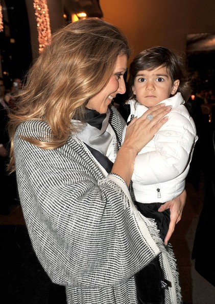Celine Dion and Son at the Four Seasons