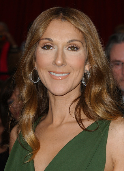 Celine Dion Long Wavy Cut