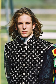 With his golden windswept locks and chiseled features, Andrea Casiraghi is every inch the dashing prince.