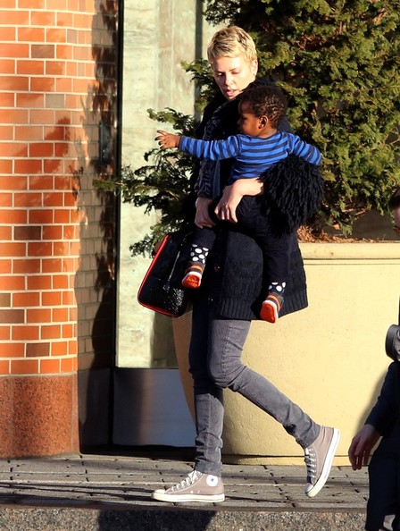Charlize Theron Out With Her Son in Boston