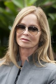 Barbara Bach finished off her look with classic aviators.