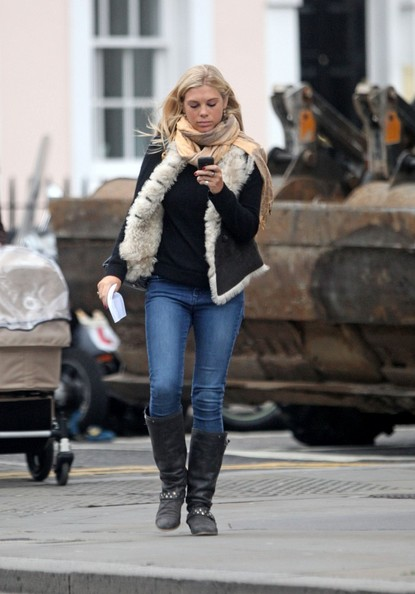 Chelsy Davy Motorcycle Boots
