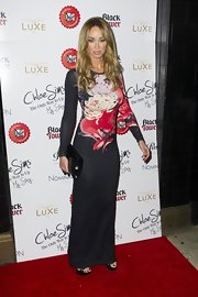 Lauren looked stunning in this floral print maxi-dress by Jonathan Saunders.