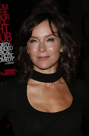 Jennifer Grey stuck to her usual curly hairstyle when she attended the 'Choke' New York screening.
