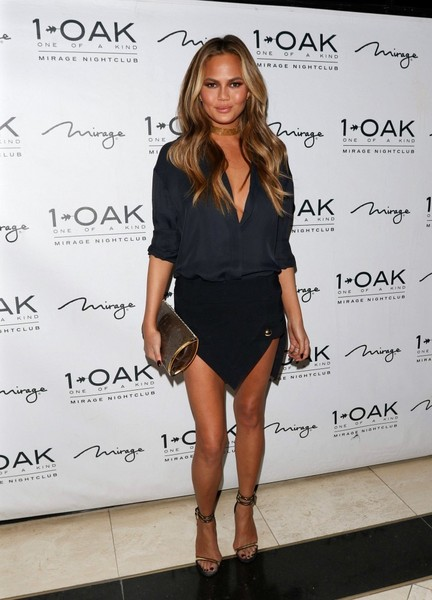 Chrissy Teigen Mini Skirt