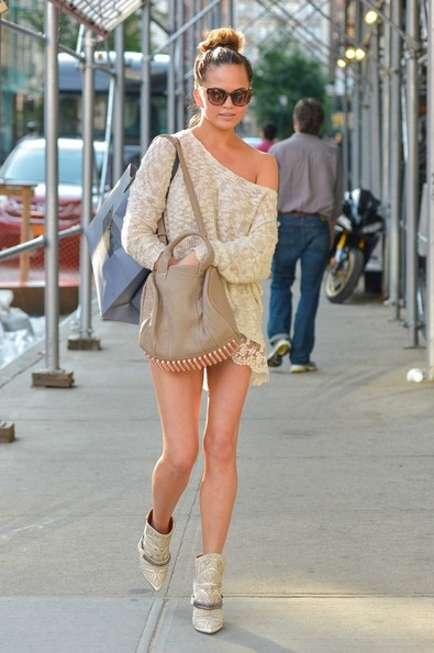 More Pics of Chrissy Teigen Ankle Boots (4 of 7) - Chrissy Teigen Lookbook - StyleBistro