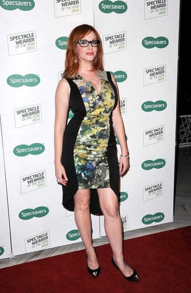 Christina Hendricks Print Dress