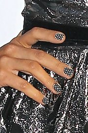 Myleene wore polka-dotted nails to the Classical Brits Awards.