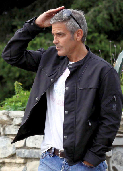 More Pics of George Clooney Motorcycle Helmet (1 of 18) - George Clooney Lookbook - StyleBistro