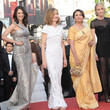 Isabelle Huppert and Sharmila Tagore