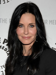 Courtney Cox wore her long layered hair sleek and straight at a screening for 'Cougar Town.