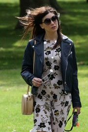 Daisy Lowe donned a pair of round shades for a stroll in Primrose Hill.