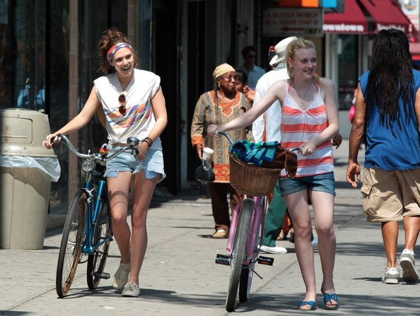 Dakota Fanning Denim Shorts
