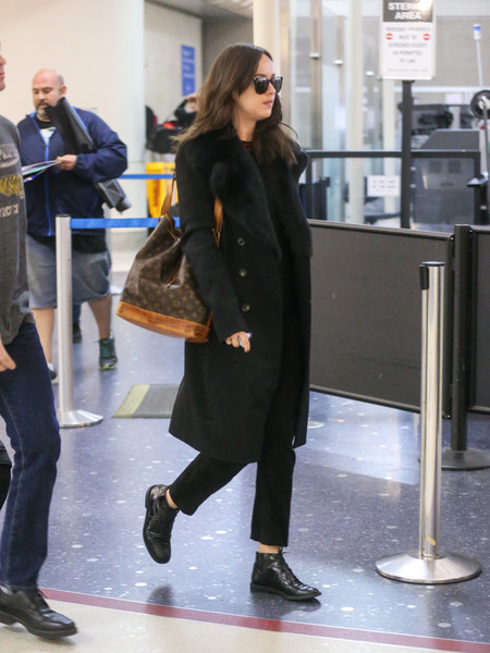 Dakota Johnson Flat Boots