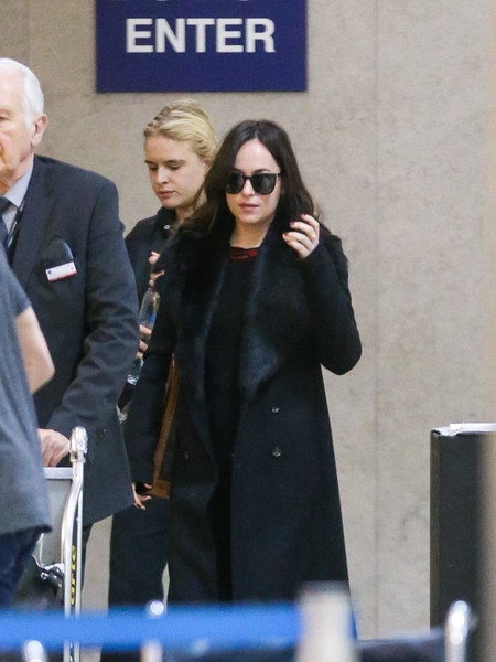 More Pics of Dakota Johnson Wool Coat (1 of 8) - Outerwear Lookbook - StyleBistro