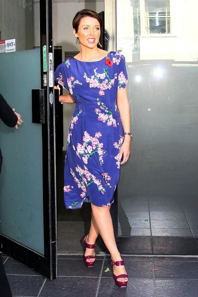 Dannii Minogue Print Dress
