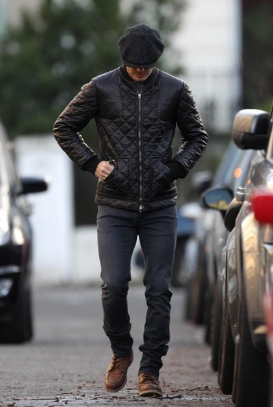 More Pics of David Beckham Bomber Jacket (5 of 17) - David Beckham Lookbook - StyleBistro