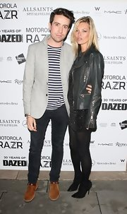 Kate Moss channeled rocker-chic ease at the 'Dazed and Confused' soiree. The model maven finished off her look with black cap toe pumps.