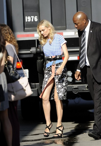 More Pics of Diane Kruger Print Blouse (2 of 8) - Diane Kruger Lookbook - StyleBistro
