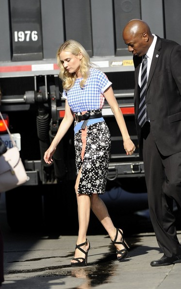 More Pics of Diane Kruger Print Blouse (3 of 8) - Diane Kruger Lookbook - StyleBistro