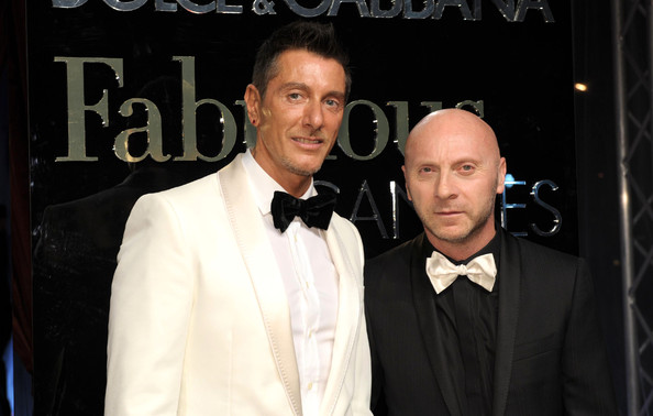 Stefano+Gabbana in Dolce & Gabbana party