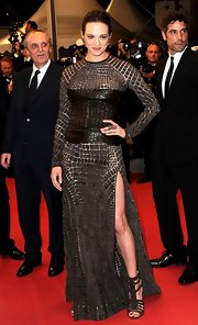 Asia Argento looked fabulous and edgy in a Givenchy Couture crocodile studded gown at the Cannes premiere of 'Dracula 3D.'
