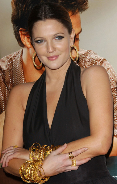 Drew Barrymore Gold Hoops